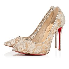 Christian Louboutin Women Pumps : Discover the latest Women Pumps collection available at Christian Louboutin Online Boutique. Stiletto Pumps, Pointed Toe Pumps, Pumps Heels, Louboutin Online, Louboutin Shoes, Lace Heels, Gold Heels, Christian Louboutin Women, Christian Dior