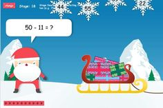 Quick mental subtraction to stop the snowflakes falling.The popular 12 Games of Christmas are now free on TES iboard. Different levels of subtraction skills can be practised to stop the snowflakes falling on Santa and his sleigh. Math Games For Kids, Fun Math Activities, Fun Games, Learning Sites, Kids Learning, Learning Tools, Christmas Snowflakes, Merry Christmas, Snowflakes Falling