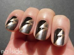 musical themed nail art