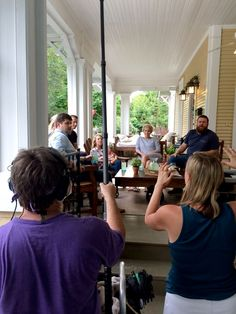 """Ben and Erin Napier take us behind the scenes and tell us what it was like to film a pilot called """"Home Town"""" for HGTV. Home Town Hgtv, Erin Napier, Hgtv Shows, Happily Ever After, Mississippi, Pilot, Ms, Porch, Garage"""