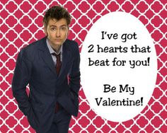 Doctor who valentine printable 2 hearts that beat for you love card