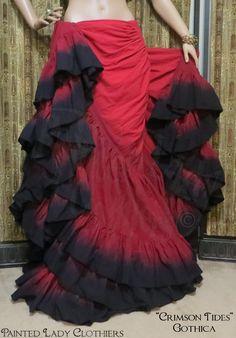 """Crimson Tides"" Gothica 25 Yard OoLaLa Skirt"