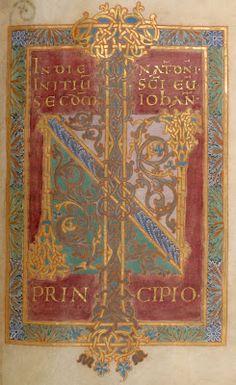 10th century gospels in illuminated manuscript (letter N) - Gero Codex