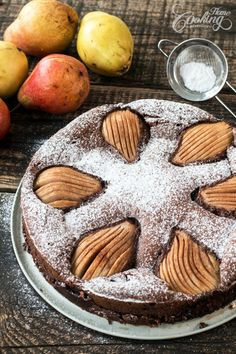 Gluten Free Almond Chocolate Pear Cake