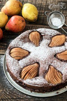 Gluten Free Almond Chocolate Pear Cake