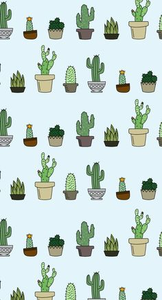 If you love cactuses and little plants, this succulent wallpaper is for you - the perfect amount of greenery to brighten up your workspace.