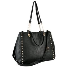 LYALL Black Chic Faux Crocodile Print Top Double Handle Office Tote Shopper Hobo Satchel Handbag Purse Chained Shoulder Bag MG Collection,http://www.amazon.com/dp/B008ONHYBI/ref=cm_sw_r_pi_dp_vfI6rb02TEX30H1A