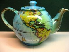 Cardew Terrestrial World Globe Teapot By Paul Cardew England