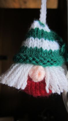 Elf Christmas tree decoration to hang on Beanie Festival's Tree in 2015 Christmas Tree Festival. http://www.justcraftyenough.com/2013/11/advent-calendar-project-13-week-24/