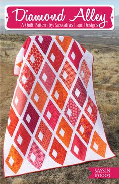 Diamond Alley Quilt Pattern - Sassafras Lane Designs. What a great pattern for large gorgeous fabric ... Gotta get this