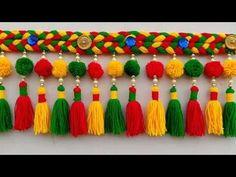 Diy Crafts Hacks, Diy Arts And Crafts, Craft Stick Crafts, Fun Crafts, Paper Crafts, Diwali Diy, Diwali Craft, Diwali Decoration Items, Door Hanging Decorations