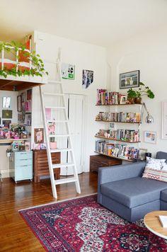 open shelves. Joe & Keith Share a Tiny & Inviting Oakland Studio