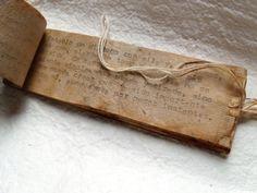 book made from used tea bags by Eloisa Marzia Emilia Elea Alquati (a.k.a. Elo)                                                                                                                                                                                 More