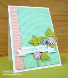 Pretty spring colors  Stamping & Sharing: Thinking of You