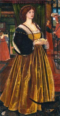 Sir Edward Coley Burne-Jones, Bt, 'Clara von Bork 1560' 1860