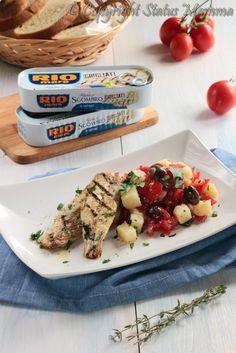 filetti di sgombro glirgliato con insalata ricetta estiva leggera facile Statusmamma antipasto piatto unico
