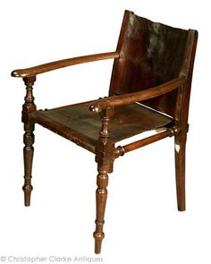 Campaign Armchair by Ross & Co, c 1880 - Christopher Clarke Antiques
