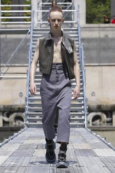 Rick Owens Fashion Show Menswear Spring Summer 2018 Collection in Paris