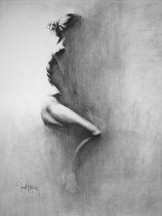 In-Between by $draweverywhere Traditional Art / Drawings / Portraits Figures