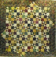Hunter Star One is a large quilt by Janann using her favorite blocks and wool batting. Star Wars Quilt, Star Quilt Blocks, Star Quilt Patterns, Star Quilts, Hunters Star Quilt, Traditional Quilts, Custom Quilts, Quilting Projects, Quilting Ideas