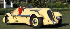 The Duesenburg 1934 SJ  Land Speed Record setting car / SNOWSGREEN or PINK