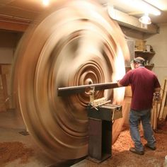 David Barkby, master wood turner.  WOW!!!