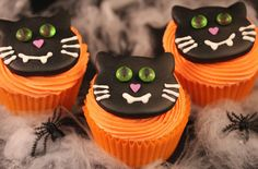 Want to make some scary Halloween treats? Have a go at baking our exclusive vampire cat cupcakes from cupcake queen Victoria Threader, featuring orange buttercream topped with a black cat