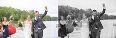 ceremony on lake st germain wedding