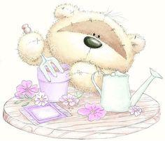 Fuzzy moon bear illustration
