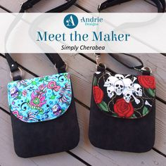 Meet the Maker - Simply Cherabea Andrie Designs Paper and PDF bag patterns Handmade bag Bag Patterns, Handmade Bags, How To Introduce Yourself, Pdf, Meet, Paper, Creative, Design, Fashion