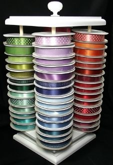 Ribbon storage, ribbon organization, ribbon carousel, ribbon, coupon code PINTEREST for 20% off