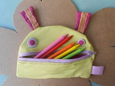Zezling!® handmade coin and pencil glutton purse!