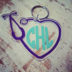 Check out this item in my Etsy shop https://www.etsy.com/listing/239459234/sale-stethoscope-key-chain-perfect-for-a