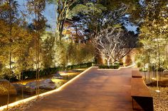 63 Ideas Exterior Lighting Architecture Decks For 2019 Design Exterior, House Paint Exterior, Patio Design, Garden Design, Backyard Lighting, Outdoor Lighting, Outdoor Decor, Lighting Ideas, Outdoor Life