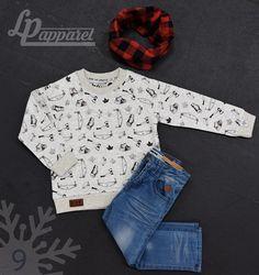 Scarf: Infinity - Lumberjack / Sweatshirt: Woods / Pants: Skateboard - Blue *L&P exclusive *