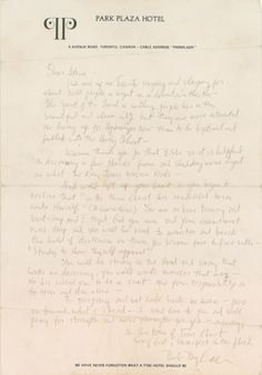bob dylan 1980 letter high quality