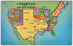 """How it looks from Texas. from """"a few puddles"""" [aka the great lakes] all the way to """"the gulf of Texas"""""""