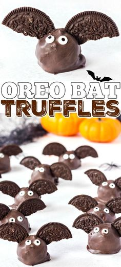 Bat Oreo Truffles are so cute and fun to make, with only three easy ingredients they're the perfect chocolatey Halloween treat!