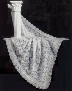 REDUCED Baby Heirloom Christening Shawl 2 ply by avintagescot, $1.65