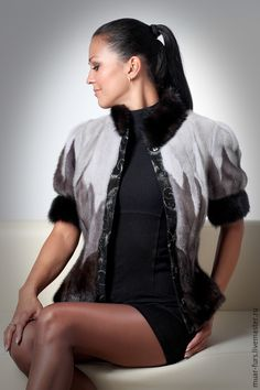 Купить Меховой Жилет из Норки - жилетка меховая, русский стиль, жилетка из меха, одежда из меха