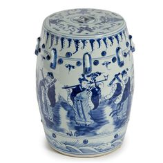 Chinese Blue & White Art Garden Stool / Side Table A Beautiful Example of The Historical & Inspiring Chinese Art of Free Hand Painted Porcelains. Courtesy of InStyle-Decor.com Beverly Hills Inspiring & Supporting Hollywood interior design professionals and fans, sharing beautiful Luxe Home Decor Inspirations, Designer Furniture, Table Lamps, Mirrors & Decorative Accents. Trending 1st in Hollywood, Your Welcome To: Repin, Share & Enjoy