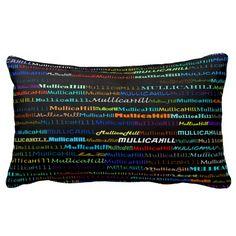 Mullica Hill Text Design I Lumbar Pillow