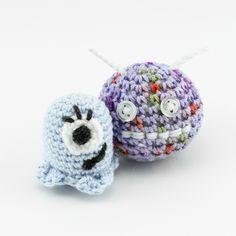 monsters, crocheted