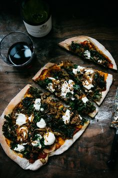 Kale and Ricotta Pizza!