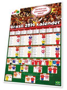 Unieke interactieve kalender die we volledig naar uw eigen wens kunnen aanpassen. Ieder land is vertegenwoordigd in het thuistenue, dat je eenvoudig in de kalender kunt steken. Alles is mogelijk. - Oranje - Relatiegeschenken