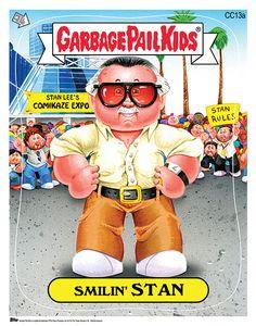 Stan Lee Garbage Pail Kids Print at 2014 Comikaze Expo
