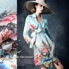 135 cm szerokości 12mm pink floral silk organza tkaniny do sukni koszula ubranie spodnie słońce odzież ochronna odzież dekoracji D113(China (Mainland))