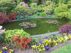 landscaping around a small pond | Outdoor Ponds – Decorative Fixtures for Gardens and Landscapes