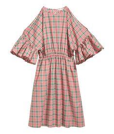 Cotton dress | Pink/Checked | LADIES | H&M BH