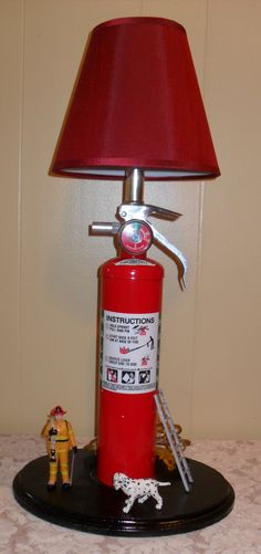 fire extinguisher lamp I made